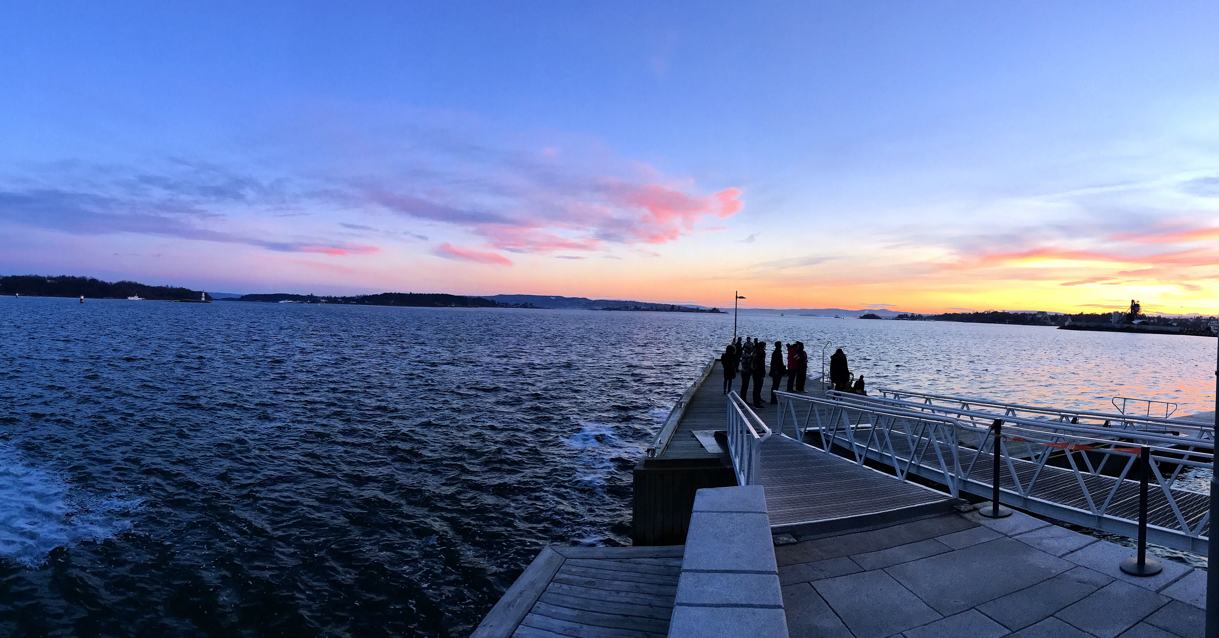 a weekend in oslo sunset